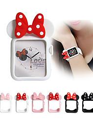 Недорогие -Минни Микки Маус уши силиконовый чехол ремешок для ремешка для Apple Watch серии 4 3 2 1