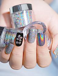 billige -1 pcs Nyt Design / Bedste kvalitet Glitter Pailletter Rhinsten Til Fingernegl Mode Kreativ Negle kunst Manicure Pedicure Daglig / Festival Stilfuld / Sød