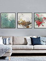 Недорогие -Отпечаток в раме Набор в раме - Цветочные мотивы / ботанический Полистирен Фотографии Предметы искусства