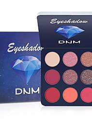 Недорогие -dnm 9 цветов тени для век блеск для глаз макияж глаз мерцание бриллиантовый металлик матовая мерцающая палитра теней для век косметика.