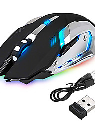 Недорогие -светодиодная беспроводная оптическая игровая мышь аккумуляторная мышь высокого разрешения x7