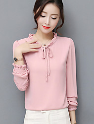 baratos -Mulheres Blusa Sólido Rosa US6