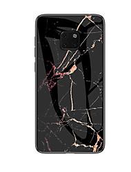 رخيصةأون -غطاء من أجل Huawei Huawei Mate 20 Pro / Huawei Mate 20 نموذج غطاء خلفي لون سادة قاسي زجاج مقوى إلى Mate 10 / Mate 10 pro / Huawei Mate 20 pro