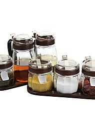 رخيصةأون -جودة عالية مع زجاج اكسسوارات مجلس الوزراء لأواني الطبخ مطبخ تخزين 3 pcs
