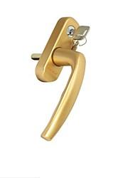 Недорогие -металлическая распашная дверь с замком с квадратной ручкой