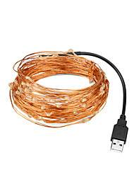 Недорогие -LOENDE 5 метров Гирлянды 50 светодиоды Тёплый белый / RGB / Белый Для вечеринок / Декоративная / Свадьба Работает от USB