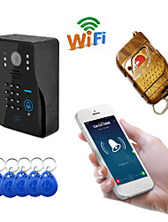 olcso -wifi1002ids wifi / ip ajtócsengő hd 1080p vízálló videó csengő hívás intercom távoli nyitás jelszó swipe funkció