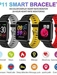 Недорогие -P11 IP68 водонепроницаемый Bluetooth-гарнитура смарт-часы фитнес-трекер сердечного ритма кислорода в крови давление калорий сна монитор для Android IOS