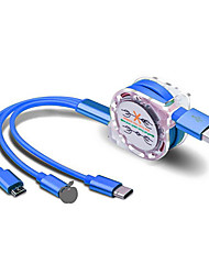 Недорогие -Многофункциональный адаптер для зарядки 3-в-1 с разъемами micro-usb с разъемом Lightning Type-C