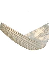 Недорогие -Туристический гамак На открытом воздухе Пригодно для носки Складной Хлопковая ткань для 1 - 2 человека Походы Белый 290*125 cm