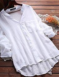 levne -Dámské - Jednobarevné Základní Košile, Krajka Černá US10
