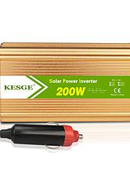Недорогие -Kesge Gold 200W автомобильный инвертор DC12 / 24V-AC220V / 110V с 1 USB и универсальный разъем питания инвертор