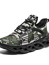 Недорогие -Муж. Комфортная обувь Сетка / Эластичная ткань Весна лето Спортивные Спортивная обувь Для прогулок Дышащий Черный / Черный / Красный / Черный / зеленый