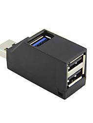 Недорогие -мини-мини 3-портовый USB-концентратор высокоскоростной USB3.0 передачи данных сплиттер передачи