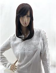 Недорогие -Человеческие волосы без парики Натуральные волосы Матовое стекло / Естественный прямой Стрижка боб / Стрижка каскад / Средняя часть Стиль Классический / Лучшее качество / Горячая распродажа / Да