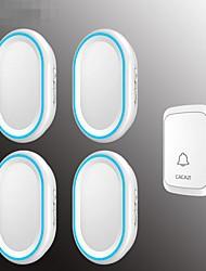Недорогие -интеллектуальный цифровой беспроводной домашний музыкальный дверной звонок один на четыре водонепроницаемые большие расстояния 58 музыка с дверной звонок памяти
