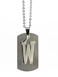 ieftine -Bărbați Pentru femei Argintiu X Coliere cu Pandativ Charm Colier Teak Alphabet Shape Vintage Draguț Încântător Argintiu 50 cm Coliere Bijuterii 1 buc Pentru Cadou