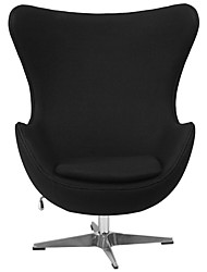 Недорогие -современное черное шерстяное обитое тканью обитое яйцо кресло