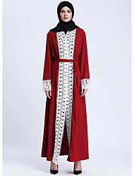 Χαμηλού Κόστους -Παραδοσιακή & Πολιτιστική Φορά Φορέματα Γυναικεία Καθημερινά Ρούχα Πολυεστέρας Δαντέλα / Διαφορετικά Υφάσματα Αμπάγια