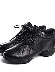 お買い得  -女性用 レザー ダンススニーカー スニーカー 厚いヒール オーダーメイド可 ホワイト / ブラック
