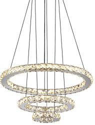 Недорогие -Светодиодные хрустальные подвесные светильники круглое кольцо потолочные люстры светильники подвесные светильники для столовой гостиной отеля дома 110-120 В / 220-240 В