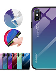 abordables -estuche para apple iphone xr iphone xs max cubierta posterior color degradado de color vidrio templado para iphone x 7 más 8 7 más 7 6 más 6