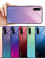 Недорогие -Кейс для Назначение Xiaomi Xiaomi Mi 9 / Xiaomi Mi 9 SE Защита от пыли / Защита от влаги Кейс на заднюю панель Градиент цвета Твердый Закаленное стекло