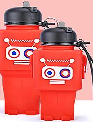 Недорогие -Бутылка для воды Складная бутылка для воды Силиконовые Портативные Складной для На открытом воздухе Путешествия Красный Синий