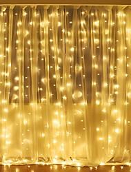 Недорогие -3mx2m 240led белый / теплый белый / многоцветный свет романтическая рождественская свадьба на открытом воздухе украшения занавес строки свет