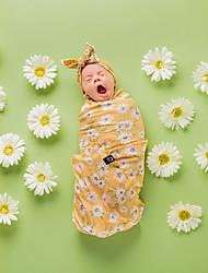 Недорогие -Новорожденный / Ребёнок до года Девочки Активный / Милая маргаритка Цветочный принт Цветочный / Цветочный стиль / С принтом Хлопок / Полиэстер Аксессуары для волос / Одеяло Желтый Один размер