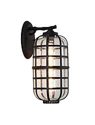 Недорогие -античный настенный светильник фонарь стеклянный настенный светильник водонепроницаемый античный скрытого монтажа настенные светильники / наружные настенные светильники магазины / кафе / наружный