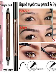 Недорогие -2 в 1 подводка для глаз четыре жидких карандаш для бровей водонепроницаемый многофункциональный длительный макияж глаз