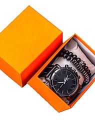 Недорогие -Муж. Нарядные часы Кварцевый Кожа Черный Нет Секундомер Творчество Новый дизайн Аналоговый Новое поступление минималист - Черный Один год Срок службы батареи