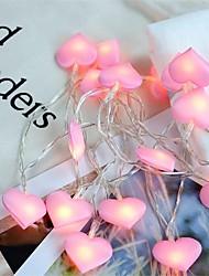Недорогие -1шт сердца гирлянды светодиодные струнный свет с батарейным питанием сказочные огни украшения на рождество свадьба дети подарки комната спальня декор