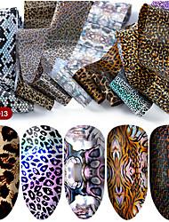 Недорогие -hnuix 10 цветов nail art star трансферная бумага горячая распродажа радуга небо японский стиль наклейки фольги для ногтей лак для ногтей клей наклейки