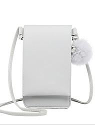 Недорогие -Жен. Пом пом PU Мобильный телефон сумка Розовый / Серый / Коричневый