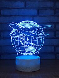 Недорогие -земля настольная лампа touch 3d base white красивый 7 цвет выключатель настольная лампа для спальни