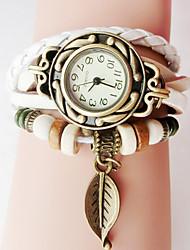 Недорогие -Женские модные женские браслеты из кожи ручной работы наручные часы кварцевые наручные