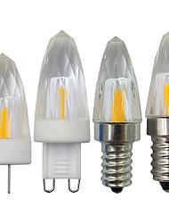 Недорогие -1шт 3 W LED лампы в форме свечи 350 lm E14 G9 G4 1 Светодиодные бусины COB Тёплый белый Белый 220-240 V 110-120 V