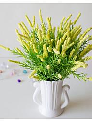 Недорогие -1 шт. Лаванда 7 вилка высококачественная лаванда пластиковая пена искусственный цветок завод оптовая продажа высококачественных поддельных цветок пены спальня гостиная украшения дома поддельные