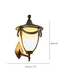 Недорогие -Открытый крытый водонепроницаемый настенный светильник алюминиевый стеклянный настенный светильник для двора входная дверь сад вилла освещения