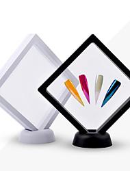 Недорогие -1 шт. Белый / черный кончики ногтя подставка для дисплея акриловая с мембраной для ногтей ногти со знаками маникюра