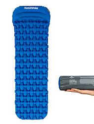 Недорогие -Naturehike Надувной спальный коврик Надувной матрас с подушкой На открытом воздухе Походы Компактность Влагонепроницаемый Ультралегкий (UL) ТПУ Нейлон 185*54*3 cm Охота Рыбалка Пляж для 1 человек