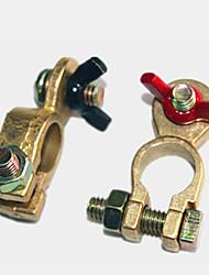 Недорогие -1 пара положительная&усилитель; латунный разъем клеммы зажима аккумулятора автомобильного аккумулятора