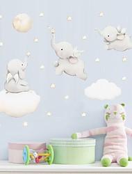 Недорогие -акварель слон звезда туманность стена адгезия детская комната спальня самоклеющиеся бумажные обои декоративные наклейки на стены - наклейки на стены животных / наклейки на стену самолета натюрморт /