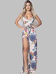 Недорогие -Жен. Классический Оболочка Платье - Цветочный принт, С принтом Средней длины