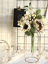 Недорогие -подсолнечник европейский ins моделирование цветок украшение дома свадьба ручной настенный завод стена искусственный цветок 1 ветка 3 головы