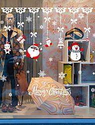 Недорогие -рождественские мультфильмы оконная пленка&и украшения наклейки животных / с рисунком праздник / характер / геометрические ПВХ (поливинилхлорид) стикер окна