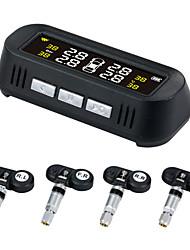 Недорогие -солнечная система контроля давления в шинах автомобиля tpms английская голосовая поддержка tpms внутренний внешний датчик давления в шинах