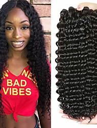 Недорогие -3 Связки Бразильские волосы Крупные кудри Не подвергавшиеся окрашиванию человеческие волосы Remy Человека ткет Волосы Пучок волос One Pack Solution 8-28 inch Естественный цвет Ткет человеческих волос